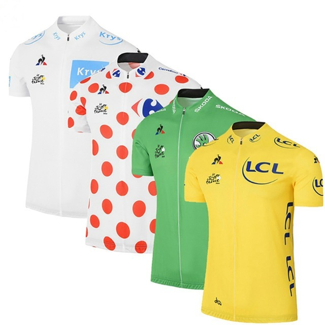 NEW Tour de France Cycling jersey team Men Short sleeve Bike wear yellow green white cycling clothing MTB Bicycle clothes