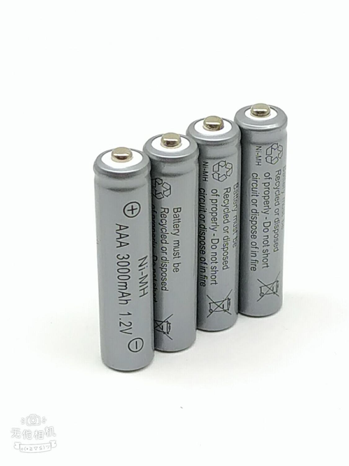 12pcs 3000mAh Ni MH AAA Battery NI MH 1 2V Neutral AAA rechargeable battery batteries Free shipping in Digital Batteries from Consumer Electronics