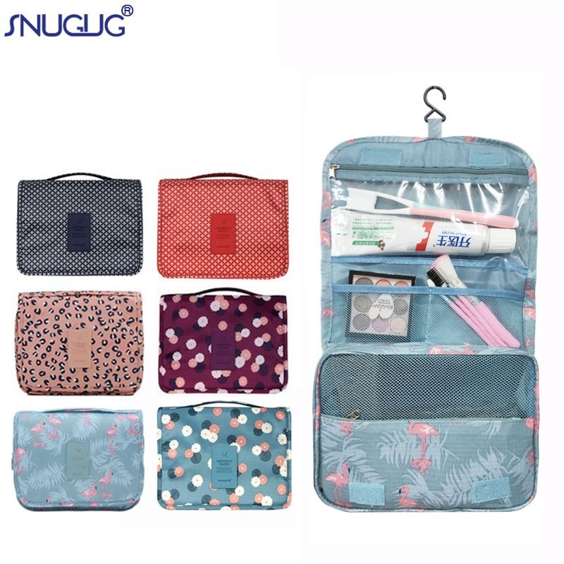 Banana Repeat Fruit Multifunction Portable Pouch Trapezoidal Storage Toiletry Bag