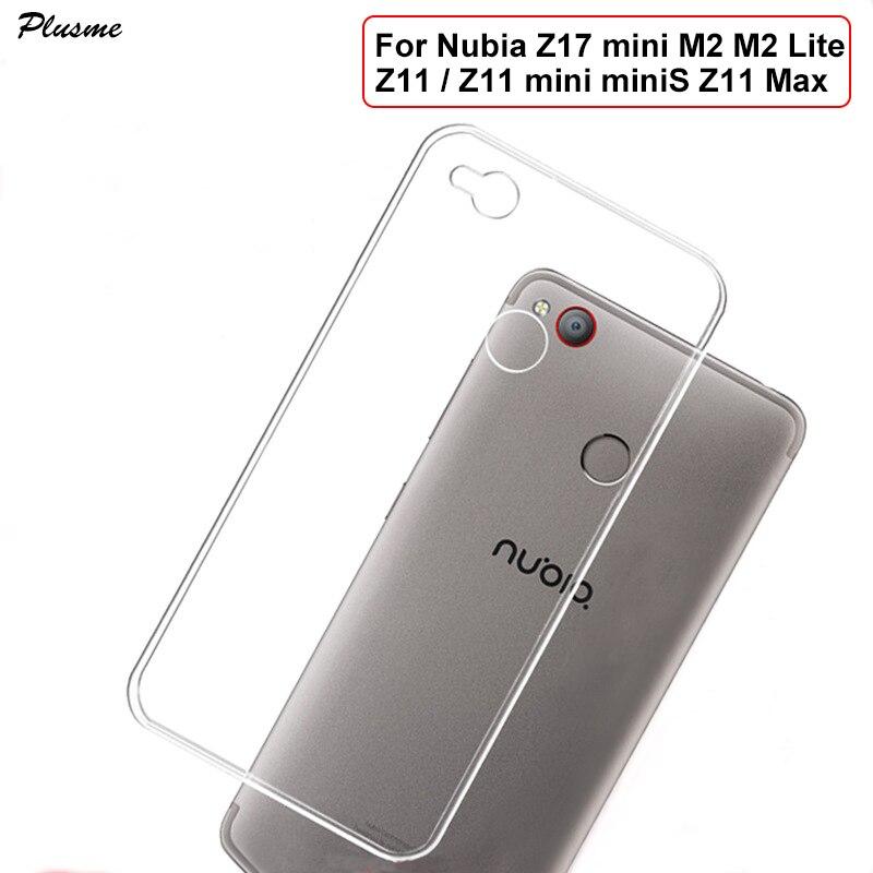 Plusme для ZTE Нубия Z17 мини m2 m2 Lite Z11 случае 2017 Мягкие TPU силиконовая ультра тонкий прозрачный чехол для nubia Z11 мини Minis Max Капа