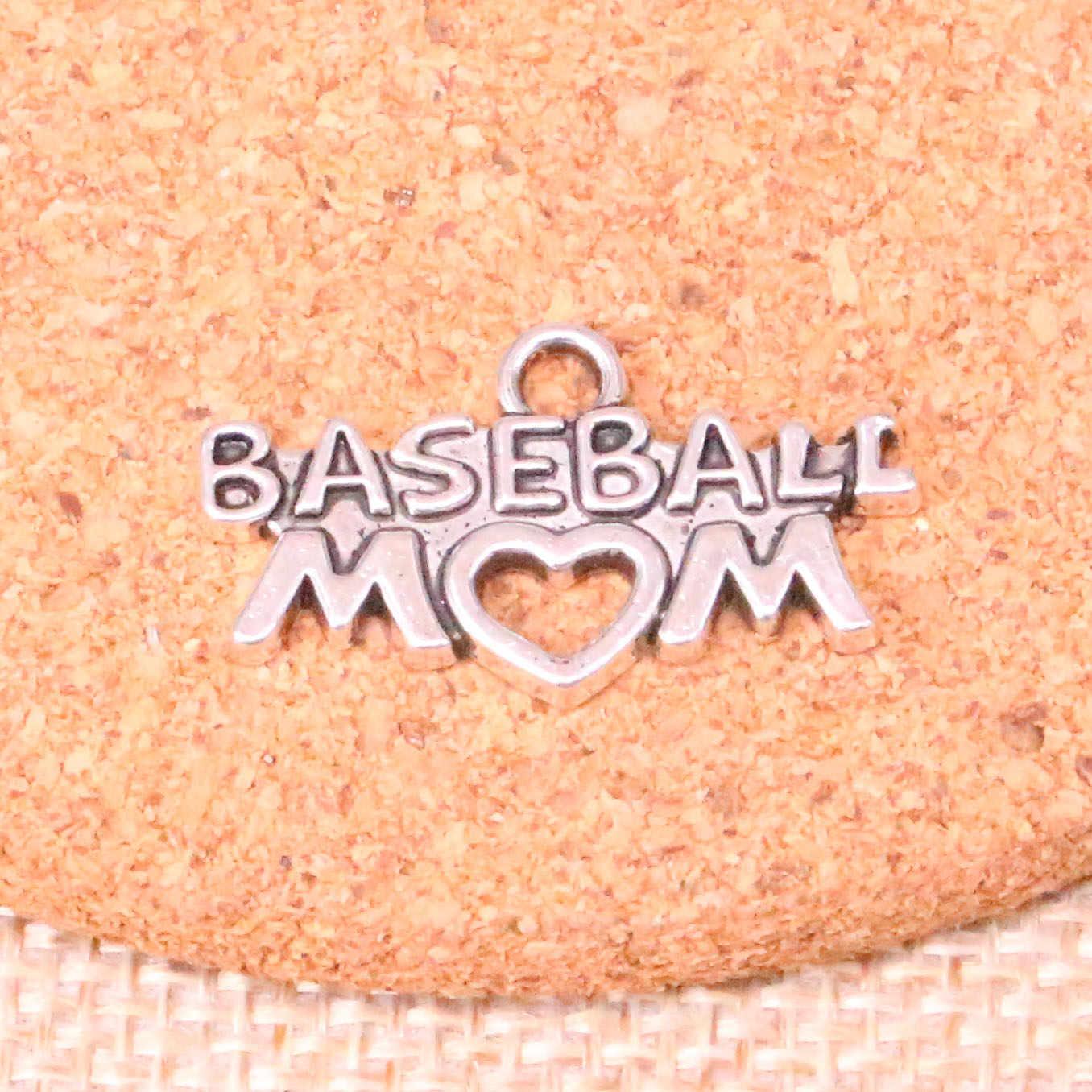 12 шт. бейсбольные Подвески тибетские серебряные подвески с сердечками для мам антикварные ювелирные изделия ручной работы 15*27 мм