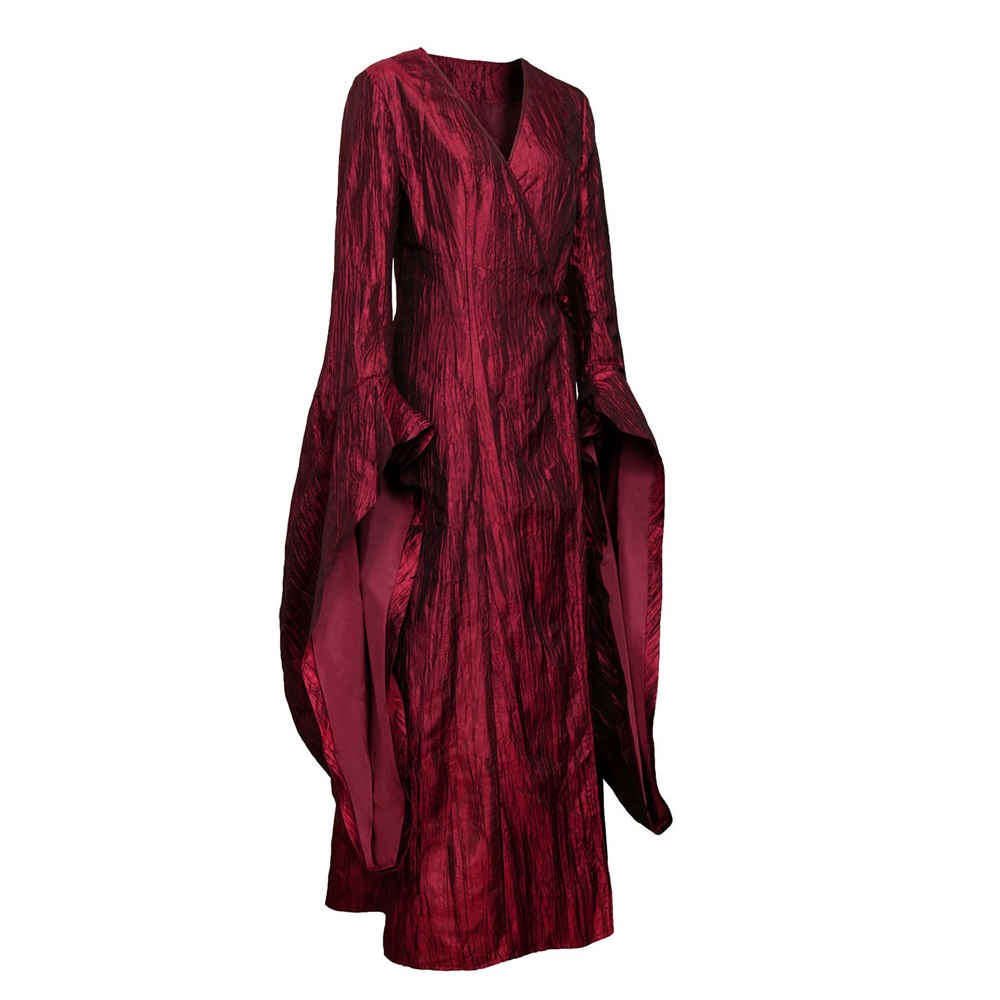 Game of Thrones Season 8 The Final Season Melisandre Cosplay Costume   Halloween Costume Party Women Red Long Dress