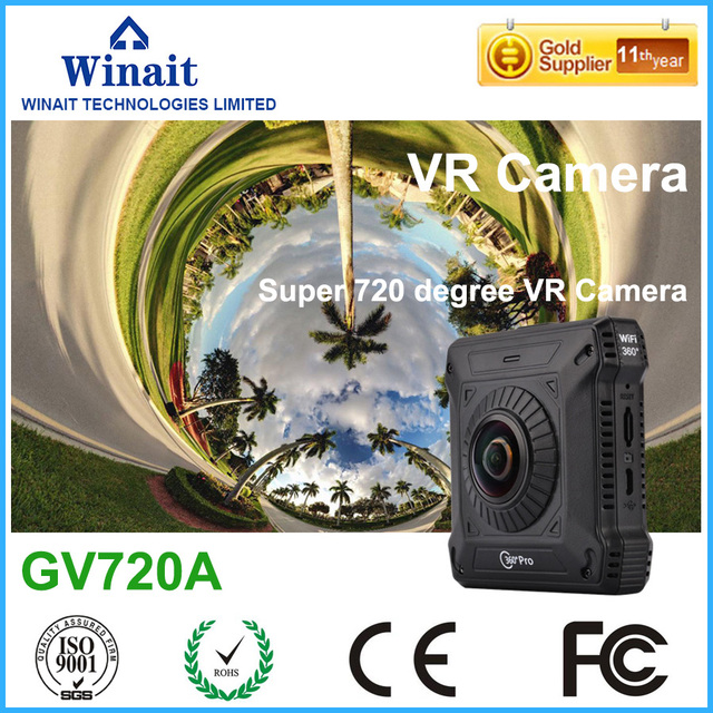 New Arrival 720 degree panorama shooting 2600 mAH Battery WiFi Remote Control Photo Video 220 degree DV GV720A 360 Pro VR Camera