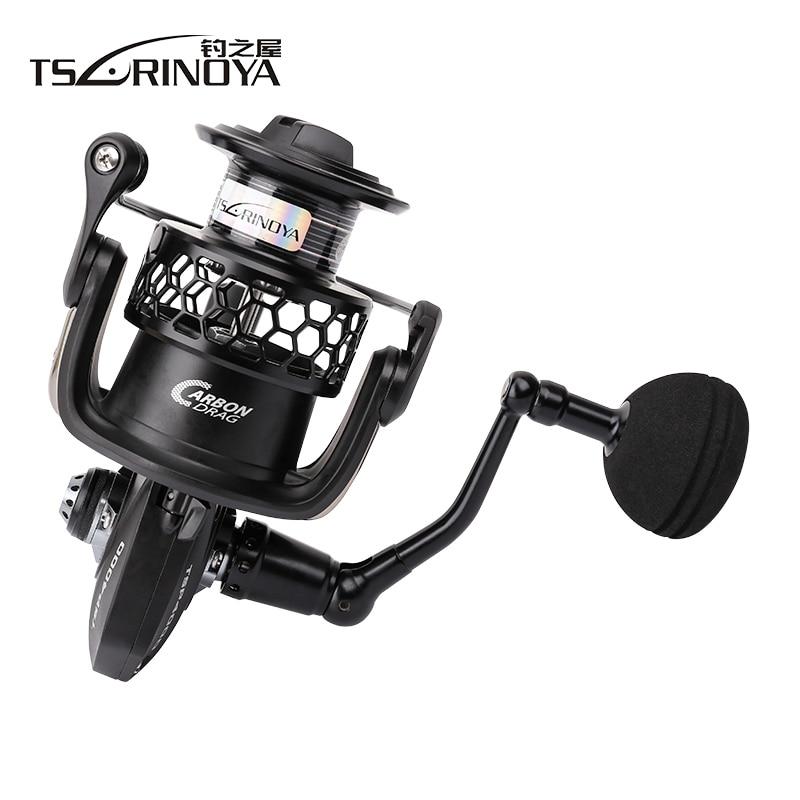 TSURINOYA TSP4000 TSP5000 Full Metal Spinning Fishing Reel 11+1BB 5.2:1 Saltwater Carp Feeder Moulinets De Peche Spinning Wheel