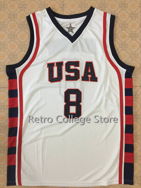 #8 Carmelo Anthony Team USA Basketball Jersey Vince Carter,Retro Mens Throwback Embroidery Customize any size ...