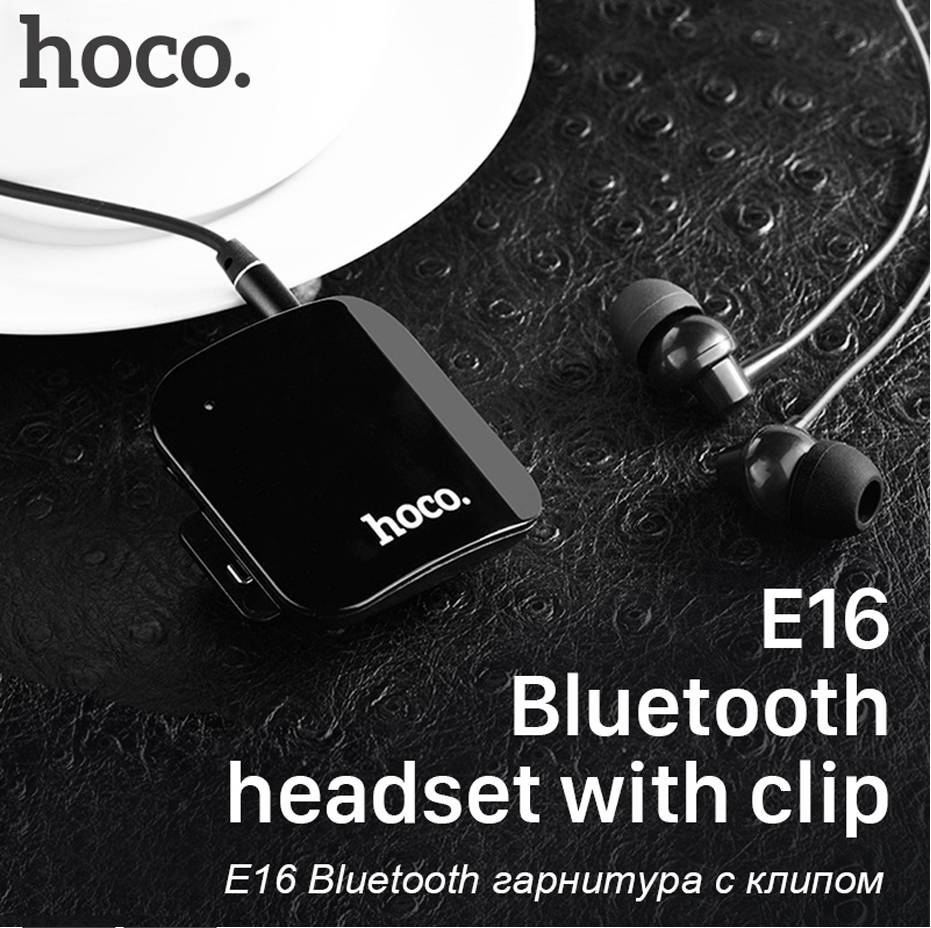 HOCO Brand Carol Series Collar Clip Bluetooth 4.1 Earphone Sports Headset for iPhone Universal Earbuds  in Ear Handsfree for Car dickens c a christmas carol книга для чтения