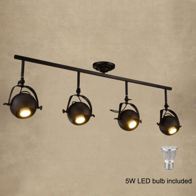 industrial bar lighting. arts lamp led spotlights light retro black white modern american industrial bar clothing store ceiling lighting o