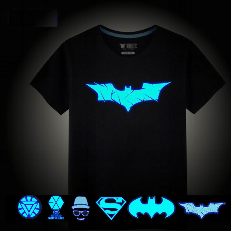 Batman Boys T-shirts Luminous T Shirt For Boys Tops Boy Polo Shirt Kids Night Shimmer And Shine Superhero Tshirt Child Outfits женская футболка other t tshirt 2015 blusas femininas women tops 1