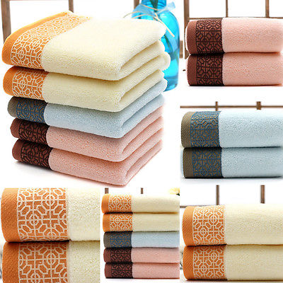 luxury cotton towels soft absorbent bath sheet hand bathroom wash cloth face hand towels