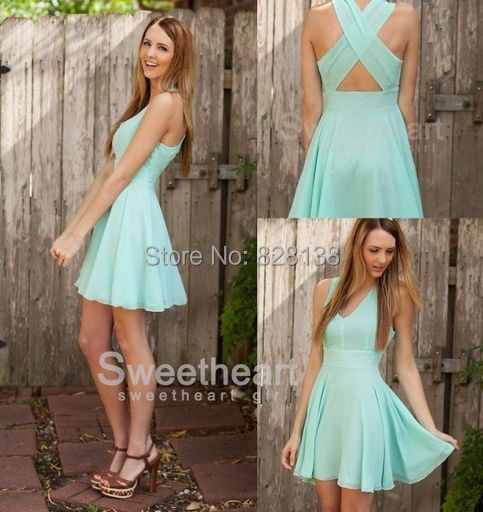 Really Cheap!!!2014 Cute Sweet 16 Dresses Turquoise A line Short ...
