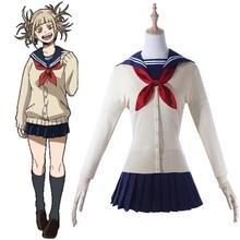 Anime My Hero Academia Cosplay Costumes Himiko Toga Costume Women Sailor Suit Halloween Party Boku No