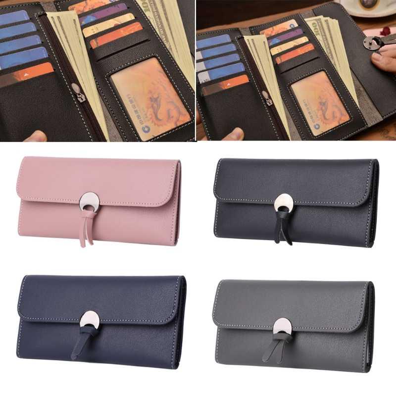 ccb15b1a3d6 ... THINKTHENDO Women Faux Leather Wallet Purse Long Designer Lady Credit  Cards Holder Organizer ...