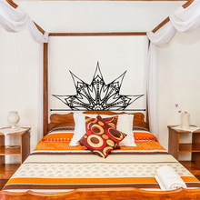 Hot Sales Mandala Flower Wall Sticker Bed Headboard Wallpaper Wall Decal PVC Wall Decor Bedroom Living Room Home Decor(China)