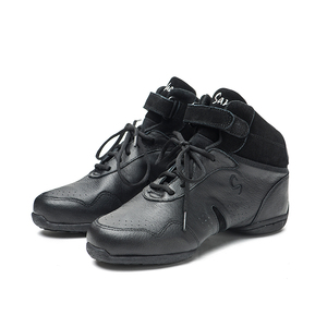 Image 5 - Sansha Dans Sneakers Domuz Deri Üst TPR Bölünmüş taban Yüksek Top Düşük Topuk Ayakkabı Kız Kadın Erkek Modern Dans ayakkabı B62LPI