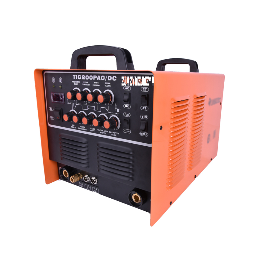 JASIC WSE-200P TIG200P AC/DC TIG/MMA Square Wave Pulse Inverter Welder 220-240V With Foot Control Pedal 220 240v gas stove ac pulse lgniter with six terminal connections safe tool