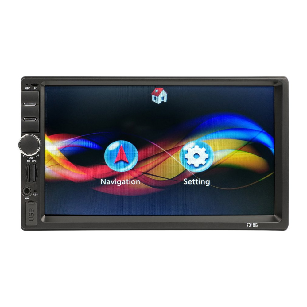 Car 7 inch HD Touch Screen Bluetooth MP5 Audio Stereo Player 2 Din Car FM Radio Multimedia Player GPS Navigation Support AUX joyous j 2616mx 6 2 touch screen car dvd player w gps navigation radio bluetooth aux black