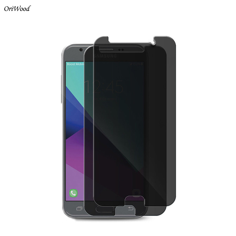 OriWood Anti Spy Black Screen Protector Privacy Tempered <font><b>Glass</b></font> For <font><b>Samsung</b></font> <font><b>Galaxy</b></font> <font><b>J4</b></font> J6 <font><b>2018</b></font> <font><b>J4</b></font> <font><b>2018</b></font> J6 <font><b>2018</b></font> Privacy Film Guard image