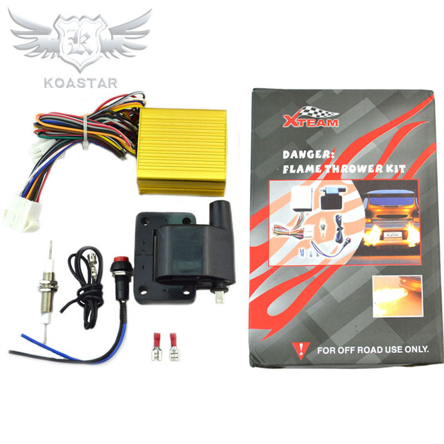 Flame Thrower Kit Off-Road Racing Exhaust Flame Thrower Kit Afterburner Kit for Car Truck ATV Scooter with Gasoline Engine