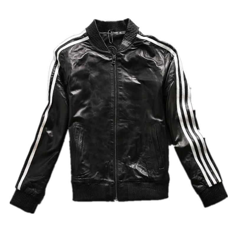 2017 Women Black Fashion Genuine Leather Jacket Slim Fit Female Winter Real Sheepskin Leather Coat Factory Direct FREE SHIPPING