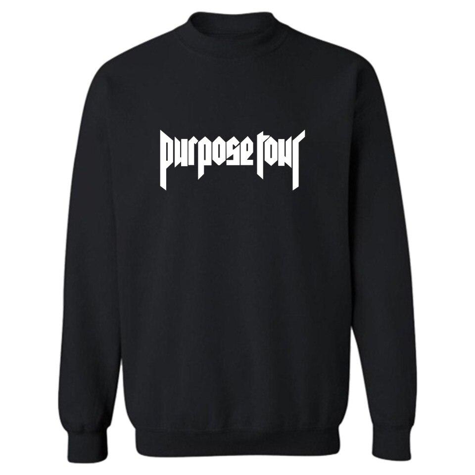 Hoodie Hip Hop Pullover New Arrival Men Purpose Tour Hoodies And Sweatshirts Justin Bieber Purpose Tour Sweatshirt Men
