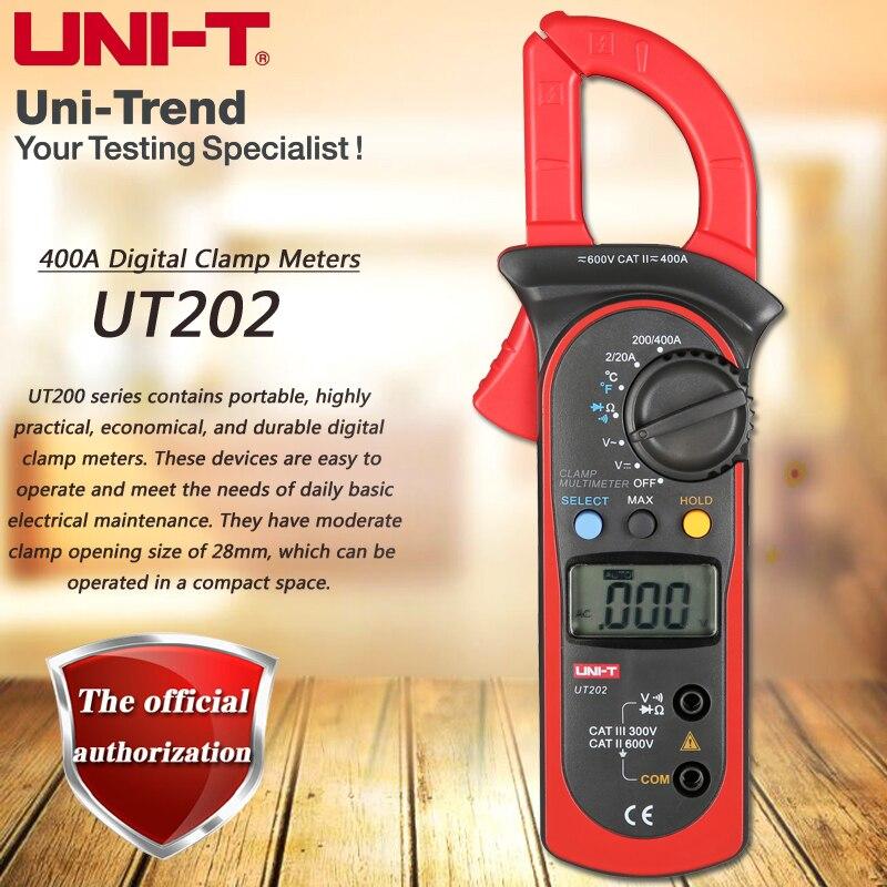 UNI T UT202 400A Digital Clamp Meter Digital Hold Full Symbol ...