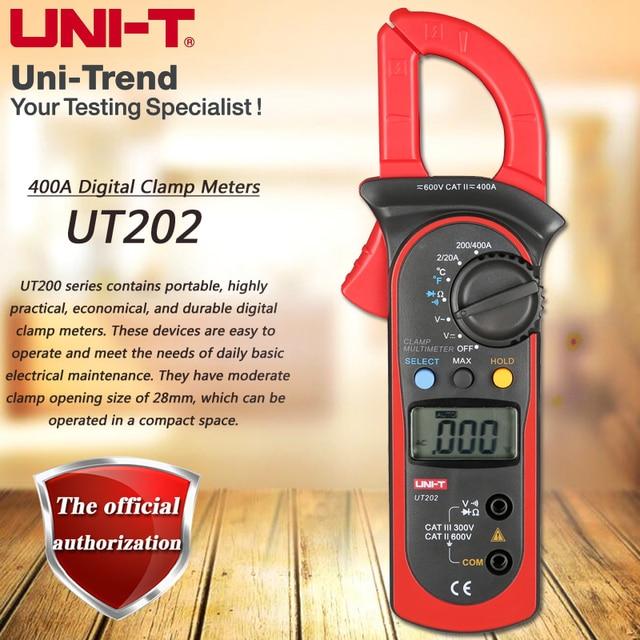 Uni T Ut202 400a Digital Clamp Meter Digital Hold Full Symbol