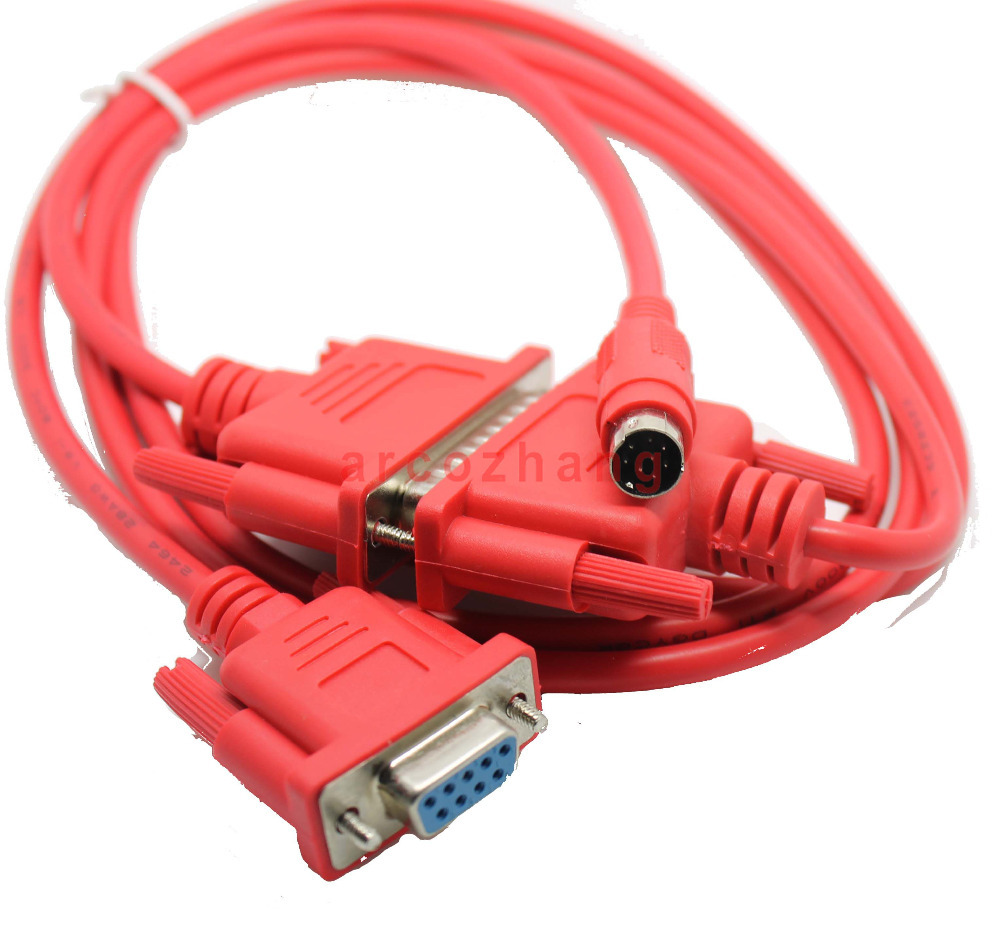 SC09 PLC CABLE SC-09 Red color programming cable for FX and A series PLC free shipping pc hidic for hitachi h2000 h300 h700 series plc oem pchidic plc programming cable free shipping
