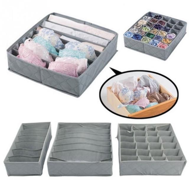 Beau 3pcs/lot Underwear Clothing Storage Case Bra Socks Tie Storage Box Closet  Organizer Drawer Container