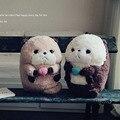 Милые Морских Животных Плюшевые Игрушки Kawaii Lutra lutra Фаршированные Плюшевые Куклы Розовый Коричневый Дети Игрушка в Подарок Для Детей D73Z