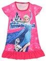 Crianças de algodão vestido de noite para as meninas 100-135 cm desenhos animados elsa anna camisolas para as meninas de algodão meninas vestir noite vestido S4