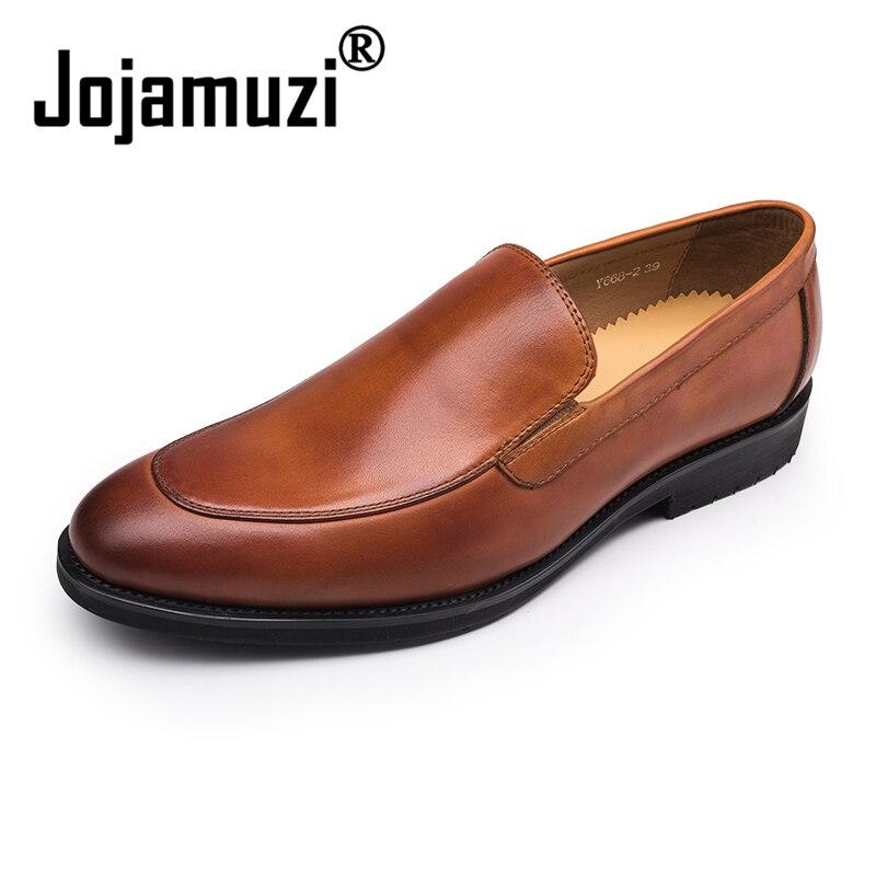 2019 جديد العلامة التجارية أحذية رجالي رسمية جلد طبيعي أكسفورد أحذية للرجال أسود اللباس أحذية الزفاف الأحذية الجلدية تصليحه-في أحذية رسمية من أحذية على  مجموعة 1