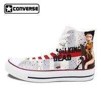 The Walking Dead Converse Sneaker Men Women Spring Shoes Hand Painted Custom Sneaker