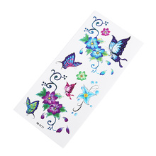 Butterfly Flower Tattoo Sticker Waterproof Perspiration Durable Elegant Hot Arm Party Female Gift