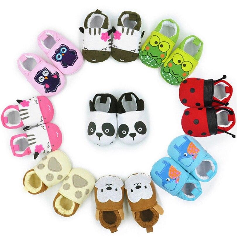 Hooyi Animal Baby Boy Shoe Newborn Shoes 0 1 2 Year Infant Girl Boots Bebe First Walkers Boy Socks Cotton Embroidery Room Shoe