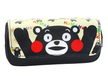где купить 2017 Cute cartoon bear bear bear pencil bag lucky bear multi-functional double zipper canvas pencil bag school office stationery дешево