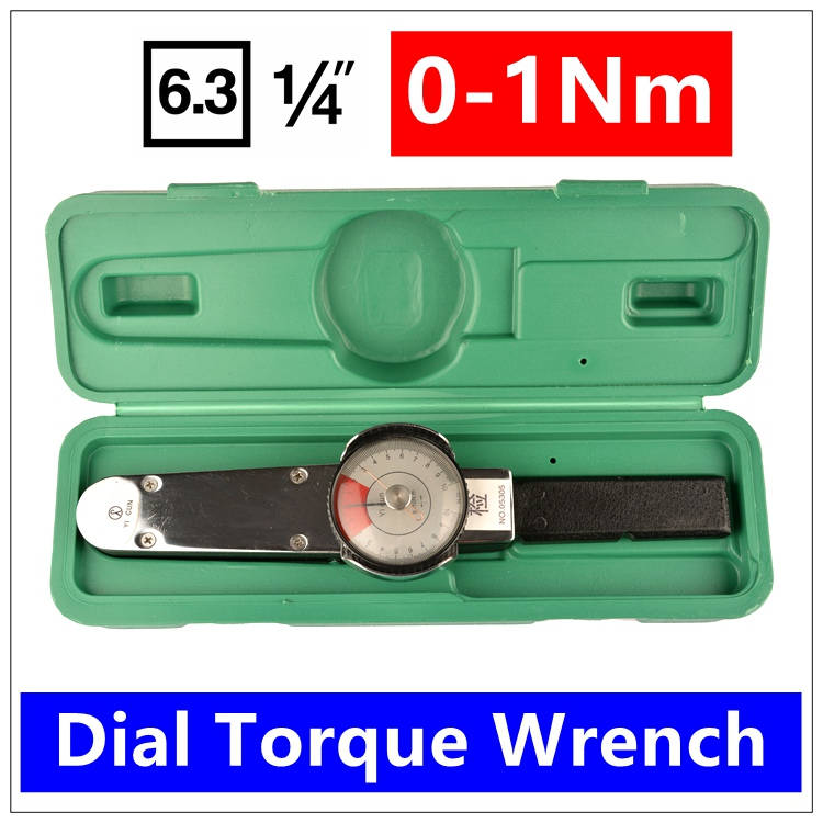 MXITA  Mxita Repairing tools 1/4 0-1Nm Dial torque spanner High precision pointer Digital torque wrench 1 4inch drive 4 14n m torque wrench torque spanner ratchet wrench for repairing bicycle packed in plastic storage box