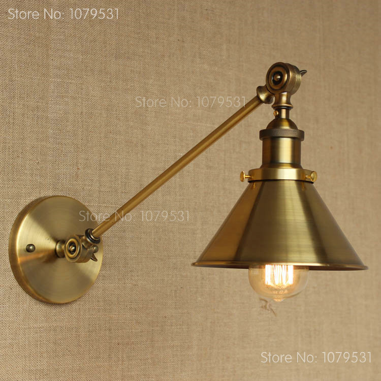retro single swing arm wall lamp for bedroom bedside adjustable wall mount swing arm lamp bronze bedside lighting wall mounted