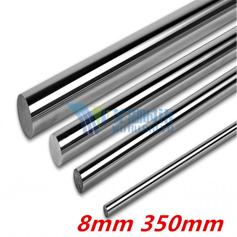 2 pcs 3D printer linear shaft 8mm 350mm linear rail L350 mm chrome plated linear motion guide rail round rod shaft for cnc chrome plated wired control plate for jazz bass total approx 152 54 mm l 344