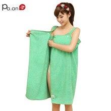 e61c0d6e54d Serviette de plage en microfibre verte portable petites serviettes de bain  138x80 cm jupe portefeuille à bouton doux pour jeune .