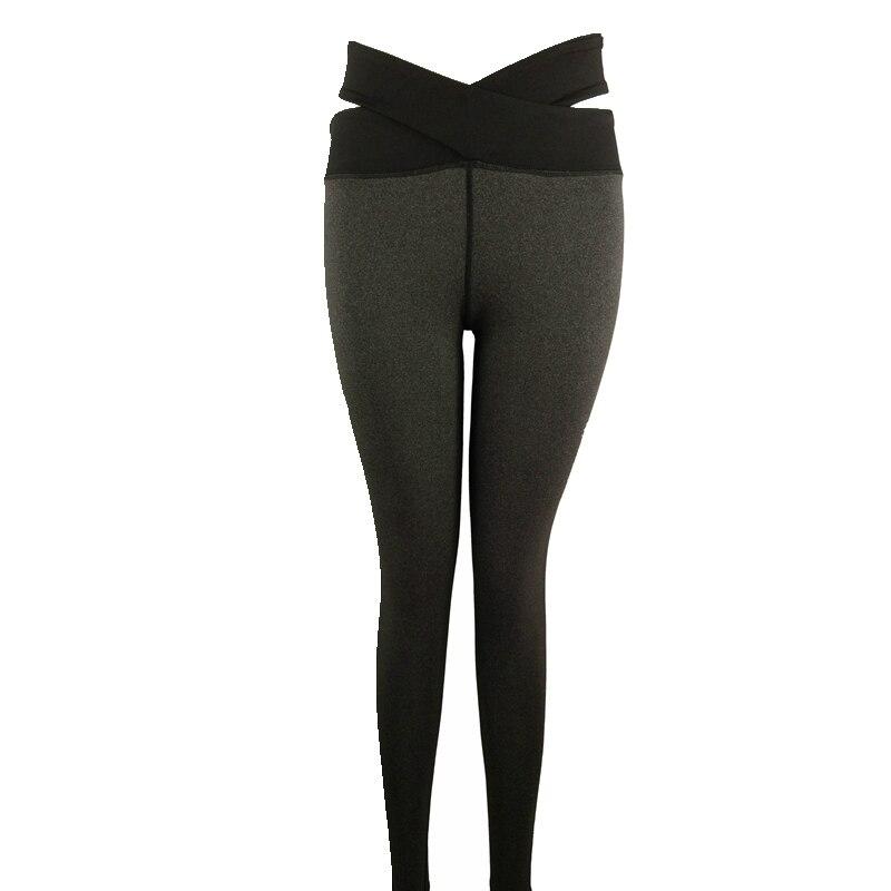 Vertvie Fitness Women Yoga Pants Solid Cross Bandage Tights Yoga Leggings Push Up Crossfit Leisure Sportswear Gym Sports Trouser