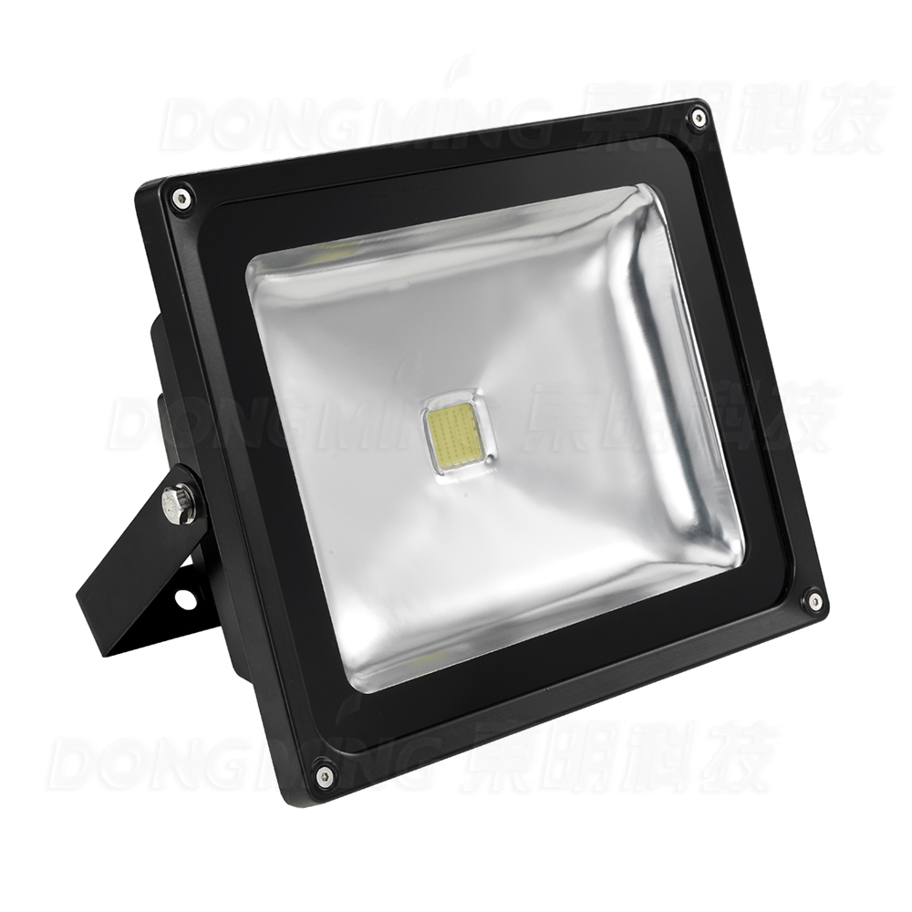 Hot sale 30w LED FloodLight RGB 85-265V Projector Waterproof IP65 super bright black spotlight Led Flood lamps lexing lx tgd 5 30w 1900lm 7000k led white spotlight w stand black silver grey 85 265v