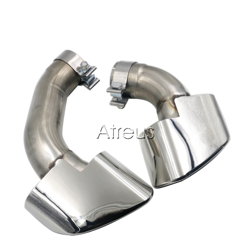 1 Pair Car Exhaust Pipe Muffler End Tips Tailpipe For BMW X5 E70 V8 3.0d 3.0sd 3.0si Accessories
