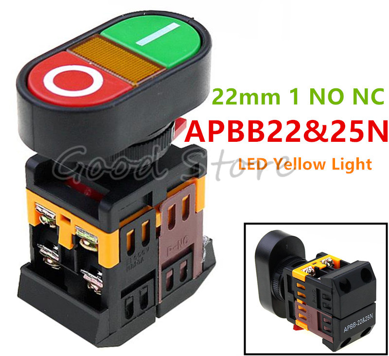 4 Pieces Yellow latching 10mm hole Self-locking Push Button Switch ON//OFF C31