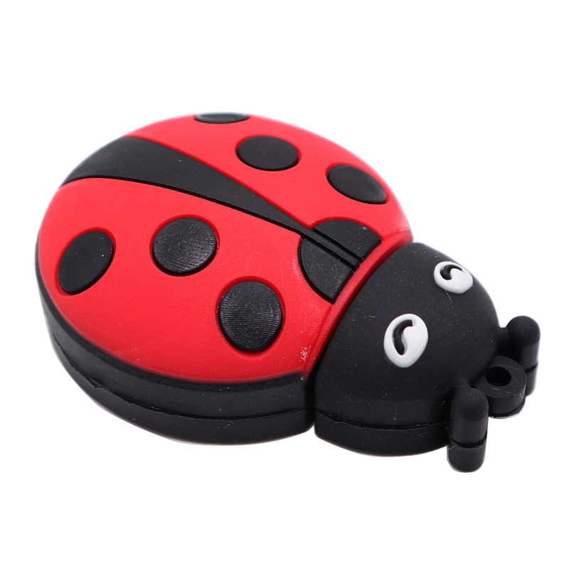 USB Stick Pen Drive Cartoon Ladybug Usb Flash Drive 4GB 8GB 16GB 32GB 64GB Memory Stick U Disk Mini Computer Gift Pendrive Cle