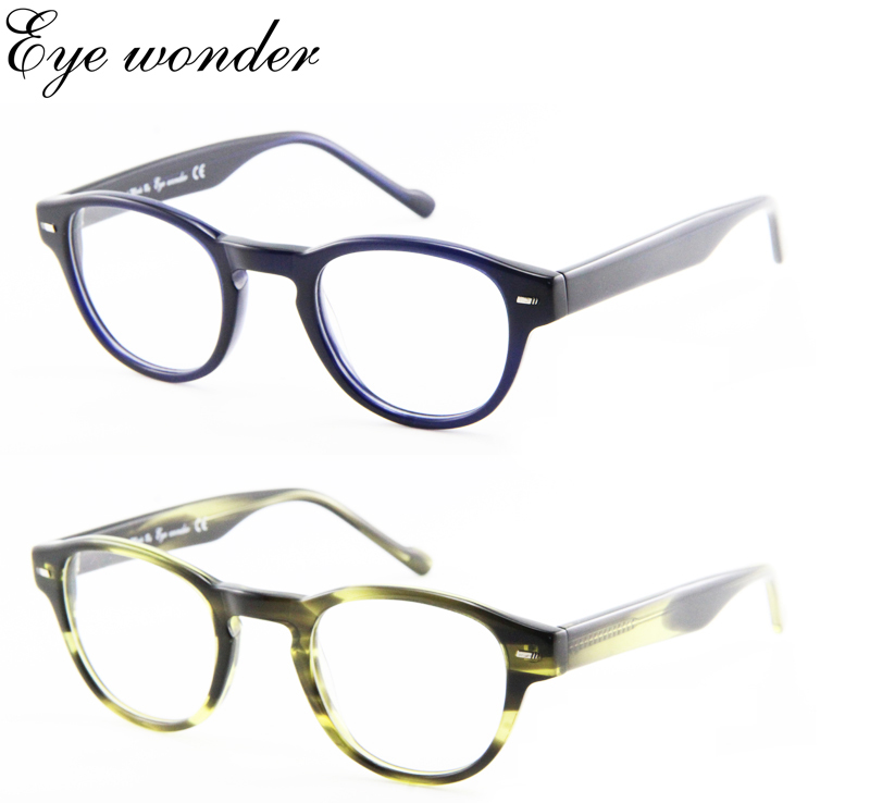 Augen Männer Gläser Runde Und Rahmen Retro Wunder Acetat Für Großhandel Frauen Optische wf4rfIx