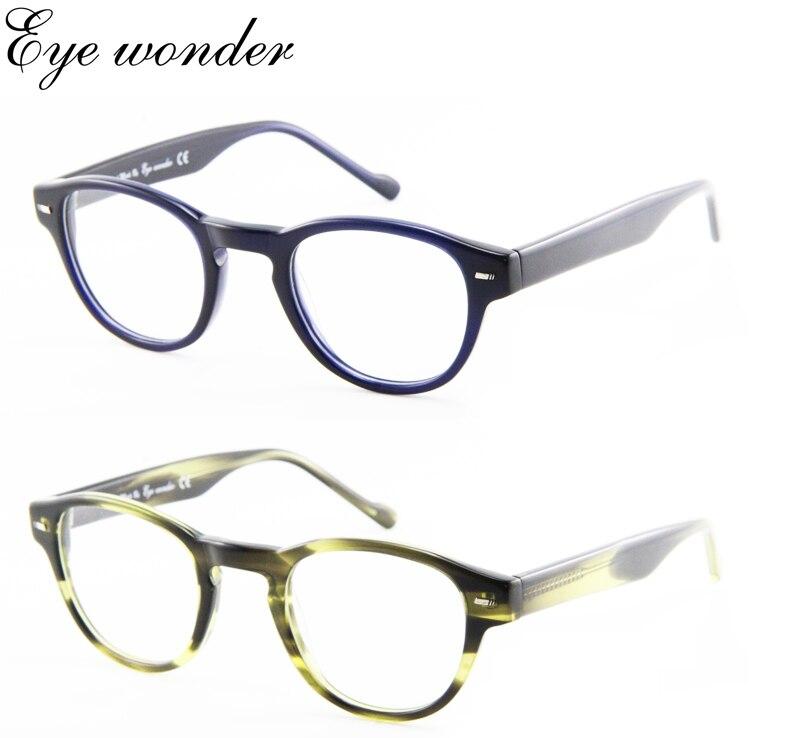 Maravilha dos olhos atacado armações de acetato de óculos para homens e  mulheres rodada Retro a5e16ae224