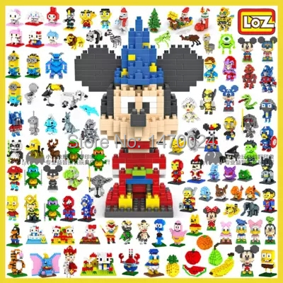 Loz Blocks Mini Blocks Characters $3.63 each @ AliExpress