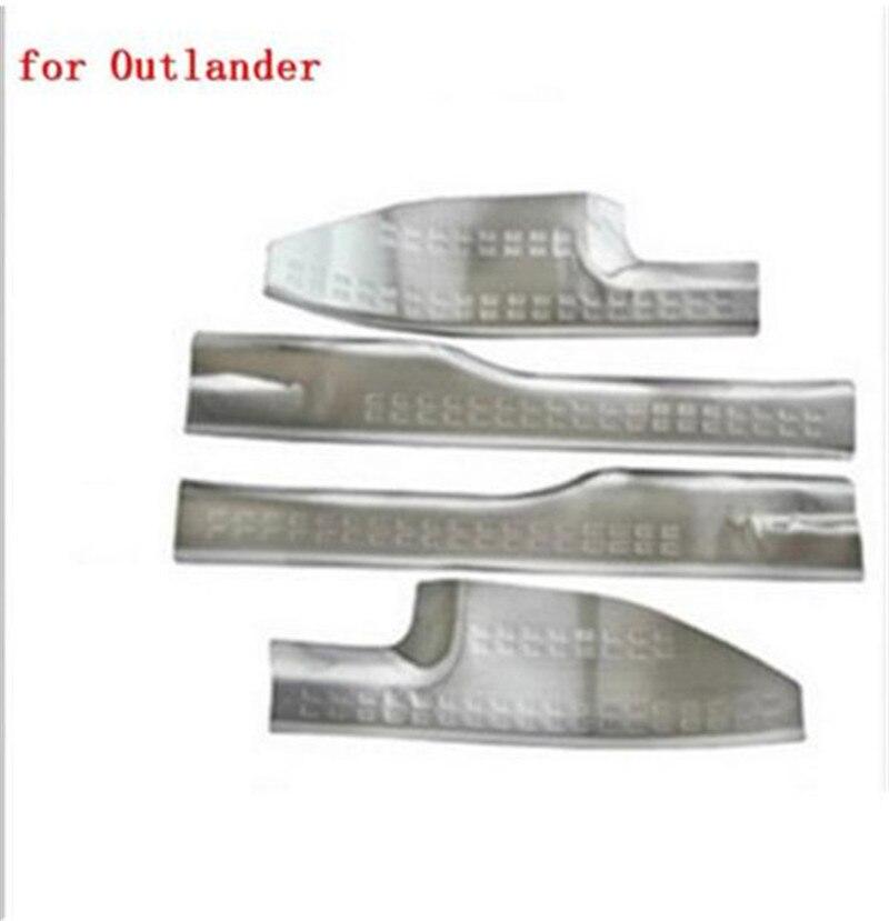 Plaque de seuil interne en acier inoxydable pour voiture/seuil de porte pour Mitsubishi Outlander samouraï 2007-2012