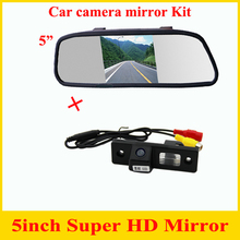 Hot sell 5inch Car Rearview Mirror Monitor HD  + car rear view parking camera for Chevrolet Epica Lova Aveo Captiva Cruze CCD HD