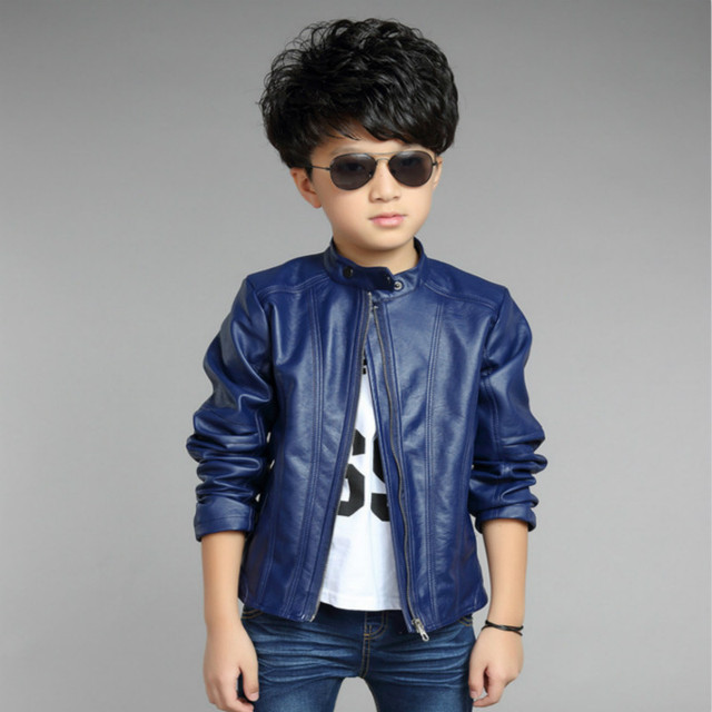 0bd7d1148 Jackets For Boys Good Quality Faux Leather Baby Jackets Solid Full ...